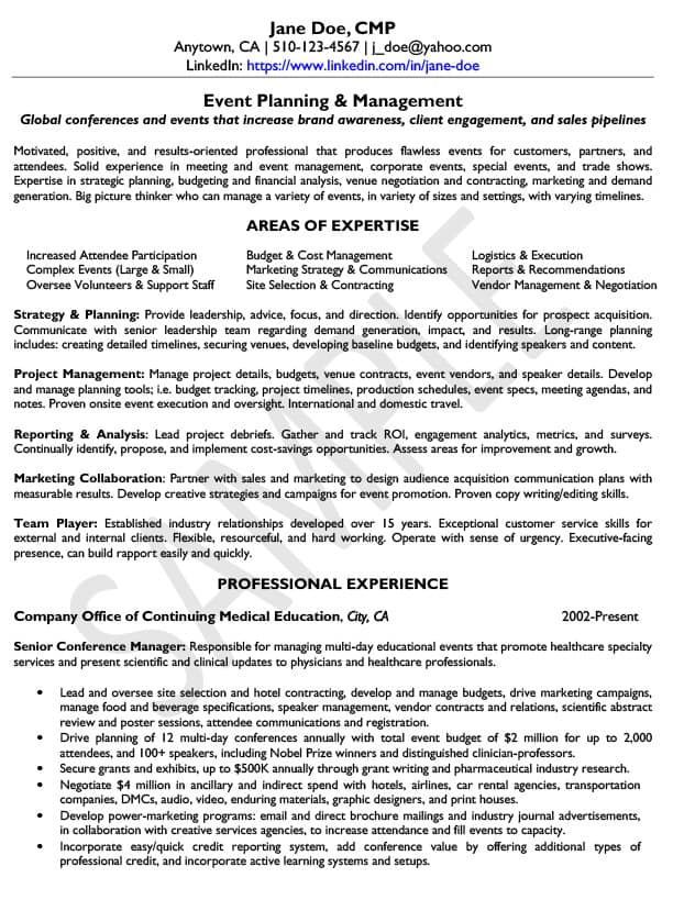 Resume Samples - Merideth Mehlberg International LLC