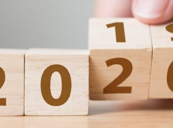 Number blocks showing year 2019 changing to 2020